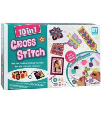 Ekta 10 in 1 Cross Stitch Kit - Multi Colour