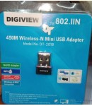 DIGIVIEW 450M Wireless-N Mini USB Adapter, 802.IIN