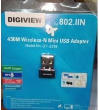 DIGIVIEW 450M Wireless-N Mini USB Adapter, 802.IIN