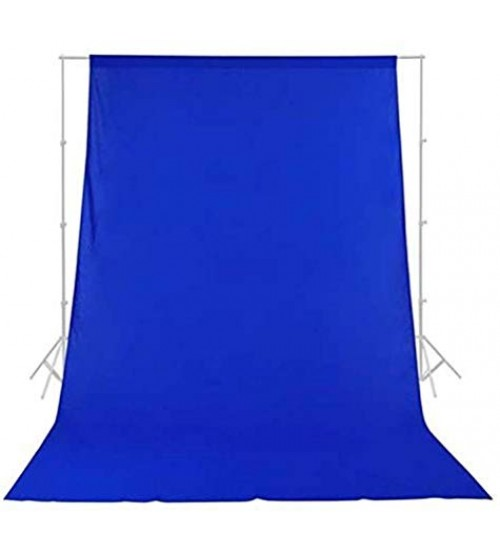 8x12 Feet Background / Backdrop for Photography, TV or Video Production, Reflector, Curtain, Blue Color