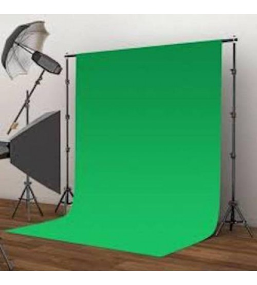 8x12 Feet Background / Backdrop for Photography, TV or Video Production, Reflector, Curtain, Green Color