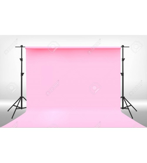 8x12 Feet Background / Backdrop for Photography, TV or Video Production, Reflector, Curtain, Pink Color