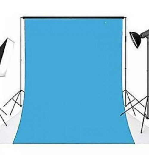 8x12 Feet Background / Backdrop for Photography, TV or Video Production, Reflector, Curtain, Sky Blue Color