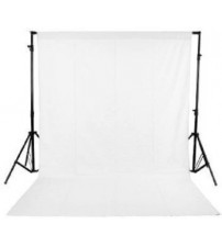 8x12 Feet Background / Backdrop for Photography, TV or Video Production, Reflector, Curtain, White Color