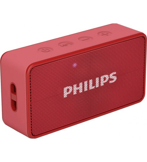 Philips Bluetooth Speaker Portable: Philips BT64R/94 Bluetooth Speaker, Wireless, Portable, Red