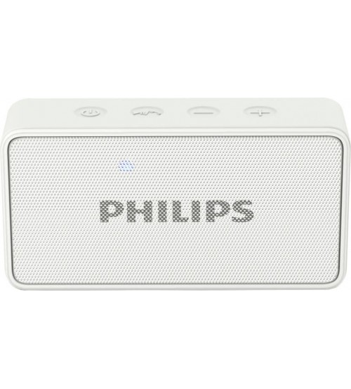 Philips BT64W/94 Bluetooth Speaker, Wireless, Portable, White
