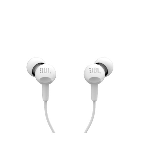 JBL C150SI in Ear Wired Headphone, White