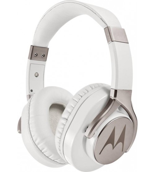 Motorola Pulse Max Wired Headset With Mic, White