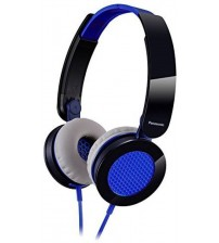Panasonic RP-HXS200E-A Bleu Headphone, Black