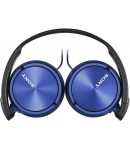 Sony MDR-ZX310APL Wired Headset with Microphone, Blue
