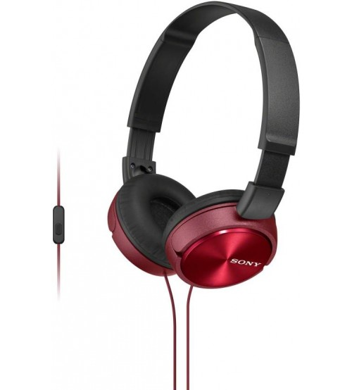Sony MDR-ZX310AP Wired Headset with Microphone, Red