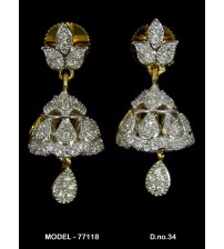 CZ Earrings, 77118