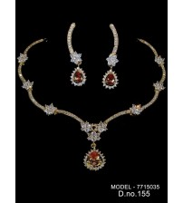 CZ Necklace Set,7715035