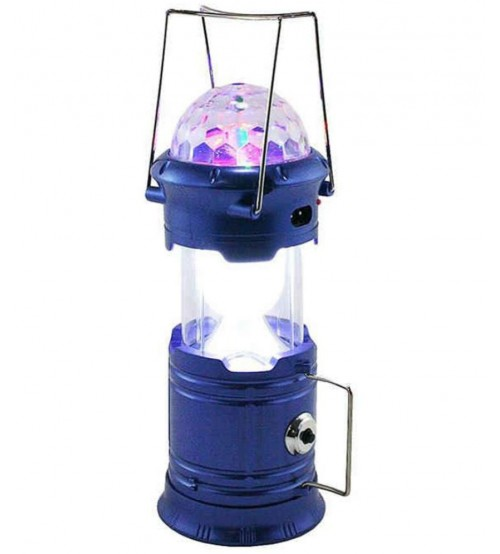 Solar Lantern With Disco Lights And Torch, Solar Lamp, 3 In 1 Recharging  Camping Lights, ...