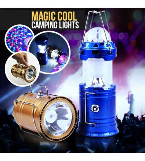 Solar Lantern With Disco Lights And Torch Solar Lamp 3 In 1 Recharging Camping Lights Solar