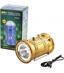 Solar Lantern with Disco Lights and Torch, Solar Lamp, 3 in 1 Recharging Camping Lights, Solar LED Lamp, Golden Color
