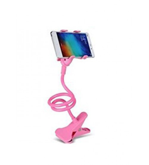 Universal Flexible Long Arm Mobile Phone Holder Stand with Clipper for home, office, car, travel, Pink
