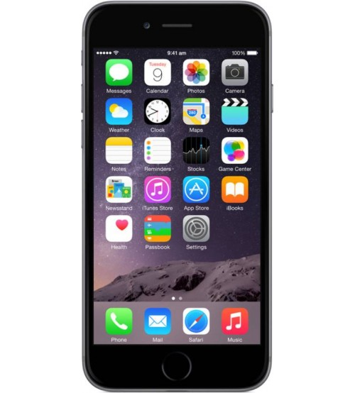 Apple iPhone 6, 64 GB, 1 GB RAM, Single SIM, 8 MP Rear Camera, iOS 8, Space Grey