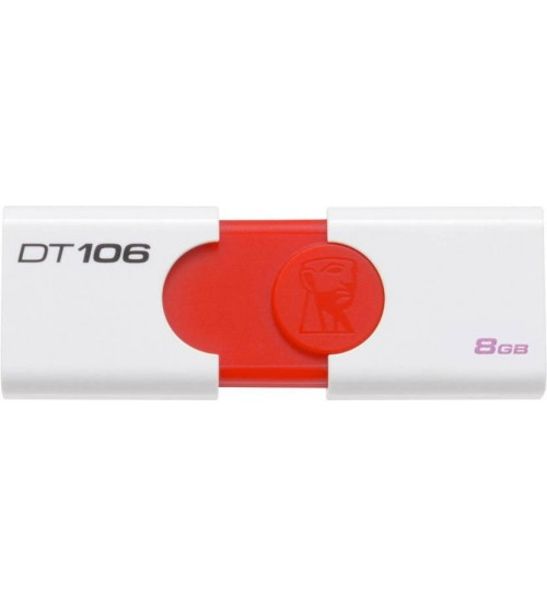 Kingston Data Traveler DT106, 8 GB Pen Drive, White