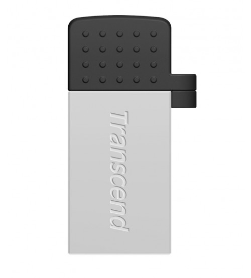 Transcend Jet Flash 380 16 GB USB 2.0 OTG Flash Drive, Silver