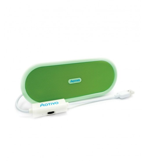Portronics Motivo Sound Bowl Portable USB Speaker, Green