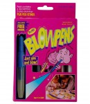 Magic Blow Pen Colors for Kids, 6 Blowpens, 3 Play Drawings, Stencils, Multi-Color
