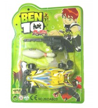Ben-10 (Ben Ten) Alien Force Kid Toys, High Speed Car with Shooter, Age: 3 Years and Above, Yellow Car