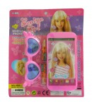 Benign Girl Mobile Phone Toys with Kid Sun Glasses, Battery Operated Mobile Phone, 3+ Ages, Pink