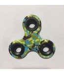 Fidget Hand Spinner, Tri-Spinner, Good Quality, Stress Reliever, Camouflage Green Color, Black Rim (Color & Texture May Slightly Get Vary)