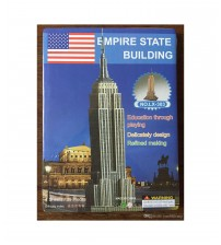 3D Puzzle Empire State Building for Kids, Assembling Sheet, 39 pieces, Attractive Show Piece