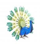 3D Puzzle Peacock for Kids, Assembling Sheet, 47 pieces, Attractive Show Piece