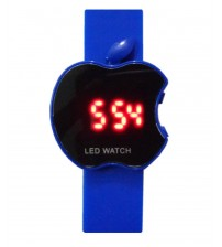 Apple Shape Dial Digital LED Watch, Kid Watch, Battery Operated, Blue Color