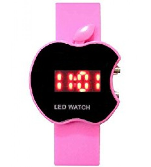 Apple Shape Dial Digital LED Watch, Kid Watch, Battery Operated, Pink Color