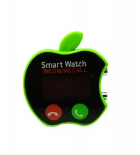 Apple Shape Digital LED Smart Watch, Kid Watch, Battery Operated, Green Color