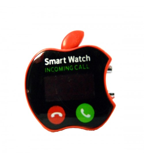 Apple Shape Digital LED Smart Watch, Kid Watch, Battery Operated, Red Color