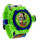 Chhota Bheem Digital Watch with 24 Image Projector, Kids and Children Watch, Green Color