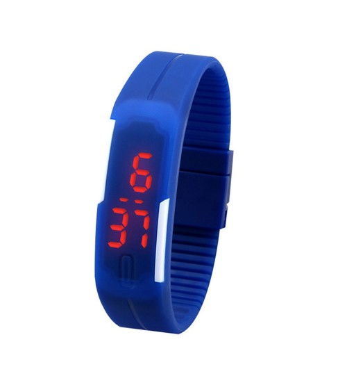 Wrist Band Style LED Watch, Bracelet Digital Watch for Kids, Blue Color