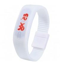 Wrist Band Style LED Watch, Bracelet Digital Watch for Kids, White Color