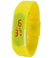 Wrist Band Style LED Watch, Bracelet Digital Watch for Kids, Yellow Color