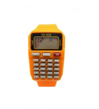 Kids Sports Watch with Calculator, Fashion Wrist Watch, Digital Watch, KK-628, Orange Color