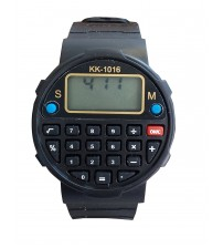 Kids Sports Watch with Calculator, Fashion Wrist Watch, Digital Watch, KK-1016, Black Color