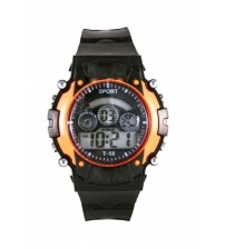 Kids Sports Watch, Stylish Wrist Watch, Digital Watch, T-58, Black and Orange Color