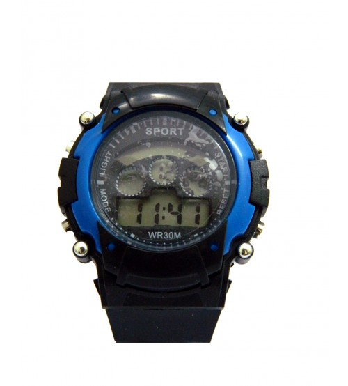 Kids Sports Watch, Stylish Wrist Watch, Digital Watch, WR30M, Black and Blue Color