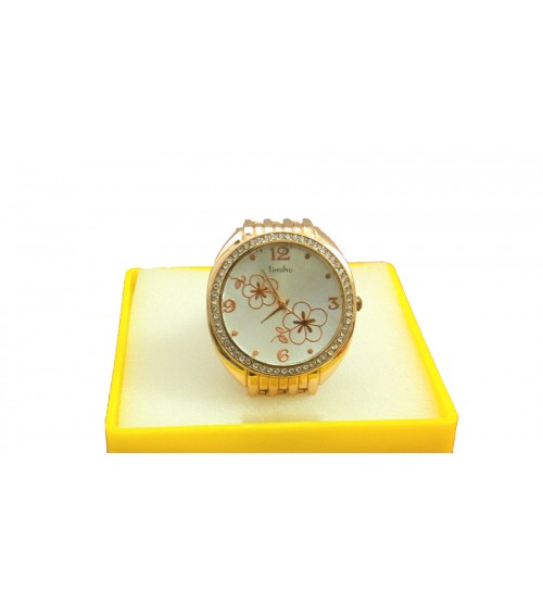 Timiho Ladies Wrist Watch, Designer Ladies Watch, Beautiful Gold Chain, Golden Color