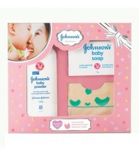 Johnson's Baby Care Collection - with Organic Cotton Bib, 3 pcs