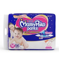 Mamypoko Pants Extra Absorb Diaper - Medium, 7-12 Kg, 56 pcs