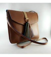 STYLISH SLING BAG FOR FEMALES, BROWN