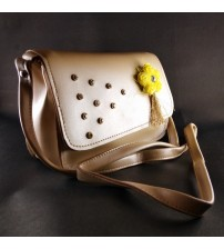 SOBER STYLISH DESIGNER LADIES BAG, CREME COLOR