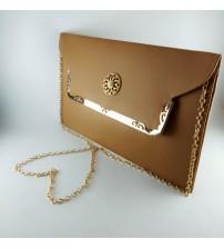 REGULAR DESIGN CLUTCH FOLDER WITH METALLIC HANDLE (LADIES BAG)