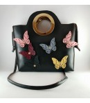 BLACK BUTTERFLY HAND AND SLING BAG FOR ALL AGE GROUP-BLACK
